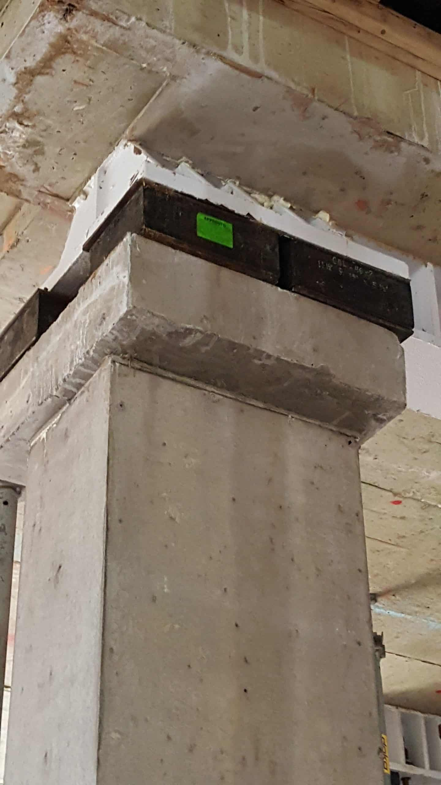High load bearings on capital column scaled Building Isolation